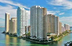 Photo of luxury & waterfront condos on Brickell Key Florida