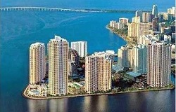 Photo of condos for rent on Brickell Key Miami Florida