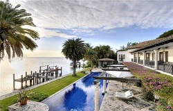 Photo of Coconut Grove Florida waterfront home