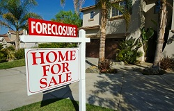 Photo of foreclosure sign in Miami Beach Florida