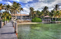 Photo of Key Biscayne Florida waterfront home